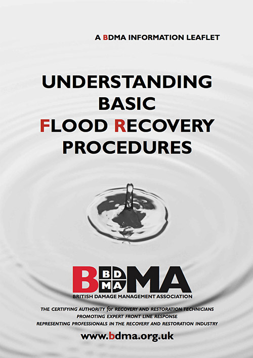 BDMA Understanding Basic Flood Recovery Procedures