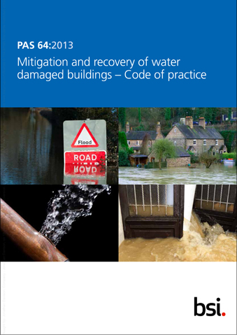Mitigation and recovery of water damaged buildings Ð Code of practice