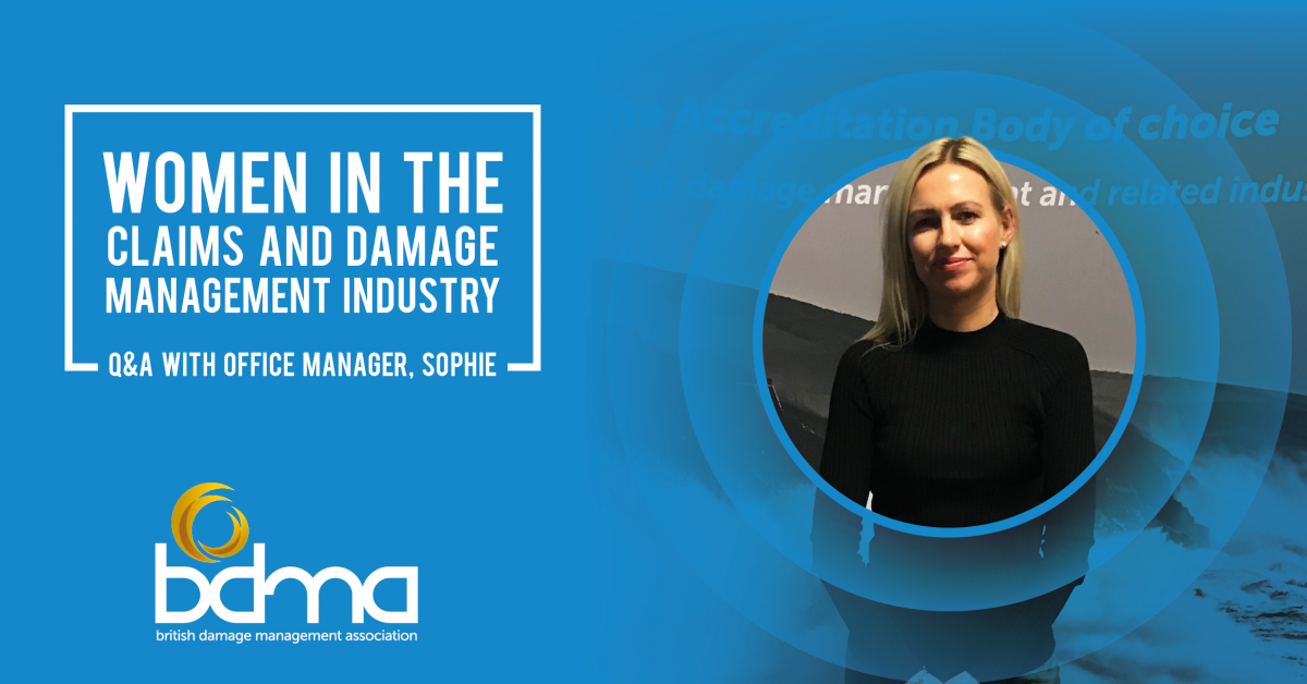 Women in the claims and damage management industry - Q&A with Office Manager, Sophie Bennett