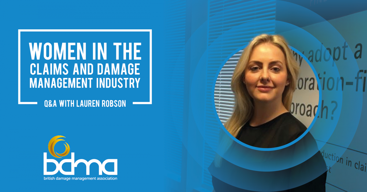 Women in the claims and damage management industry - Q&A with Plastic Surgeon's National Account Manager, Lauren Robson - The BDMA